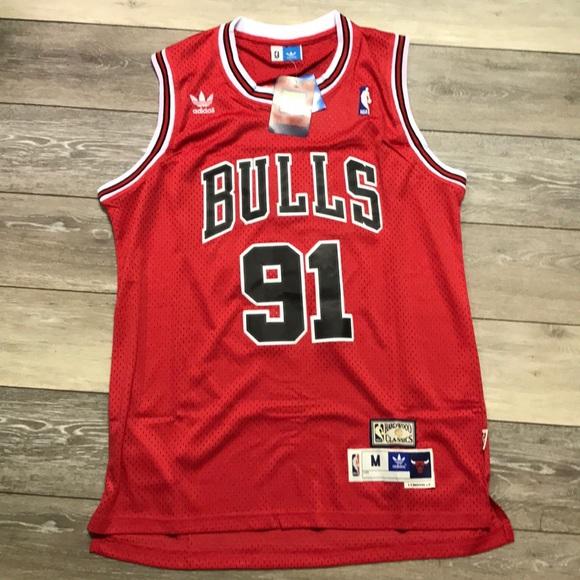 finest selection 00e32 ee1a3 Retro Bulls Dennis Rodman Adidas Swingman Jersey NWT